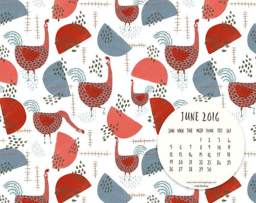 JUNE 2016 FREE DESKTOP CALENDAR DOWNLOAD