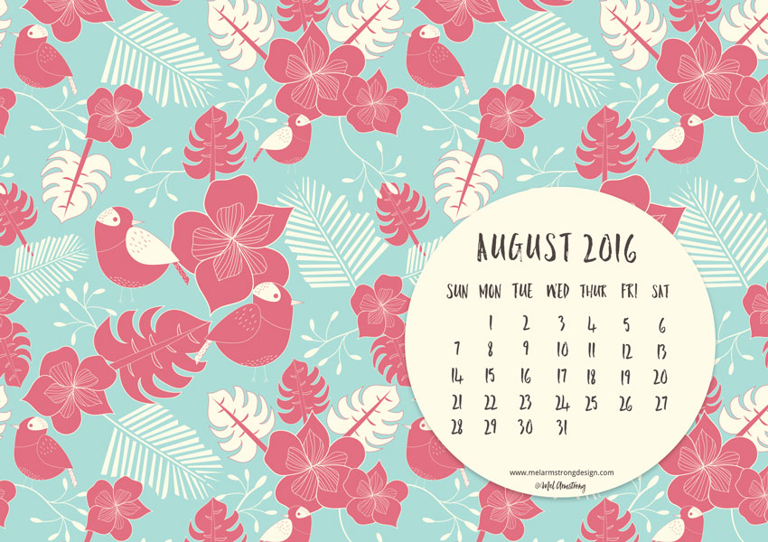 AUGUST 2016 FREE DESKTOP CALENDAR DOWNLOAD
