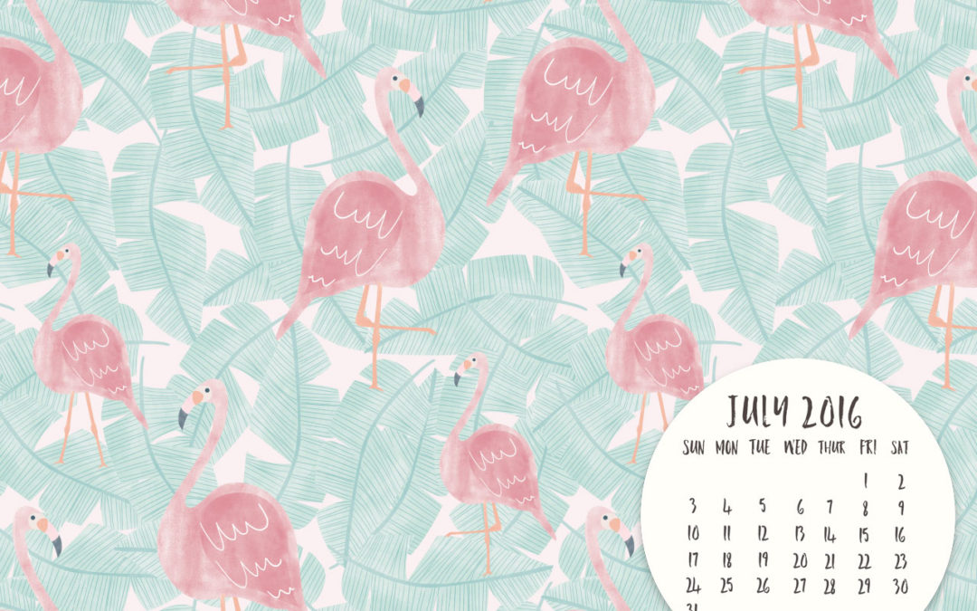 July 2016 FREE DESKTOP CALENDAR DOWNLOAD