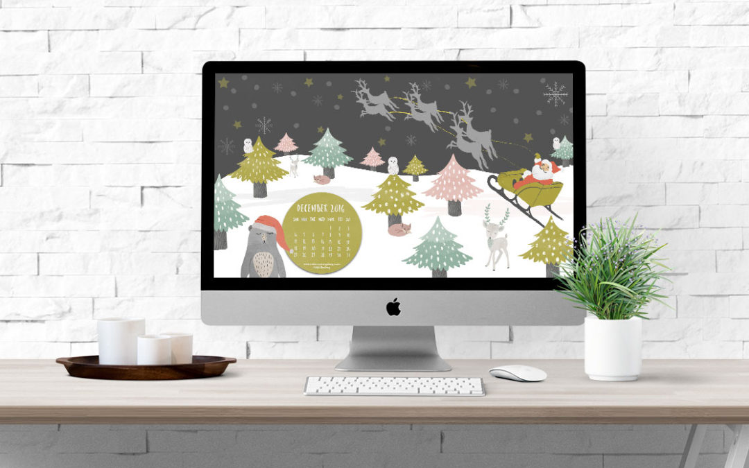 DECEMBER 2016 FREE DESKTOP CALENDAR DOWNLOAD
