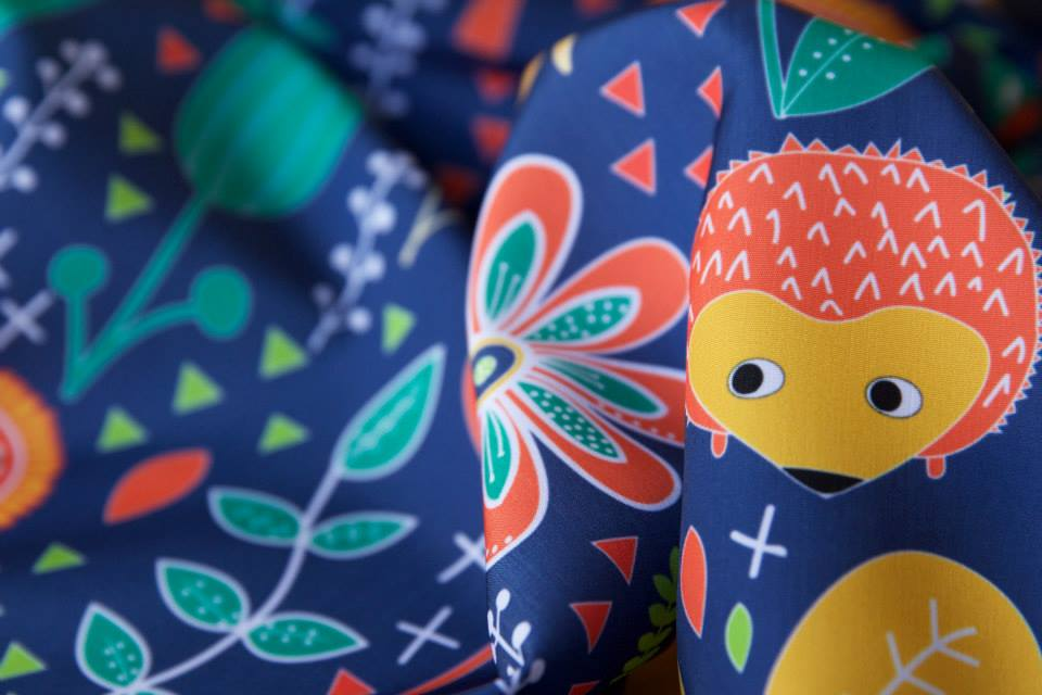 Hedgehog Playground Voted 3rd at Spoonflower