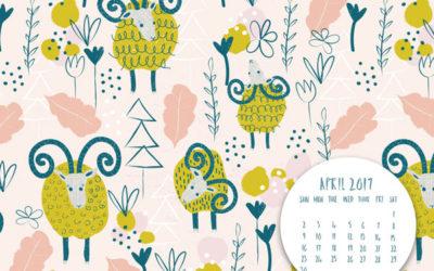 April 2017 Inspirational Quote & Calendar Desktop Wallpaper