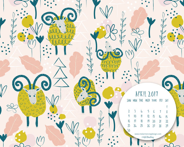 April 2017 Inspirational Quote & Calendar Desktop Wallpaper
