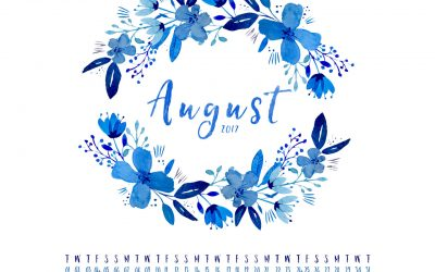 August 2017 FREE DESKTOP CALENDAR & INSPIRATIONAL QUOTE