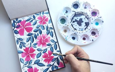 Creating a pattern from a watercolour painting