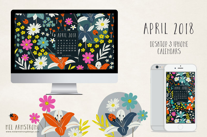 April 2018 Free Desktop Calendar