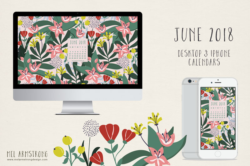 June 2018 Free Desktop Calendar Download