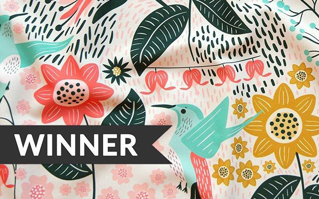 Hummingbird the Winner – Spoonflower Challenge