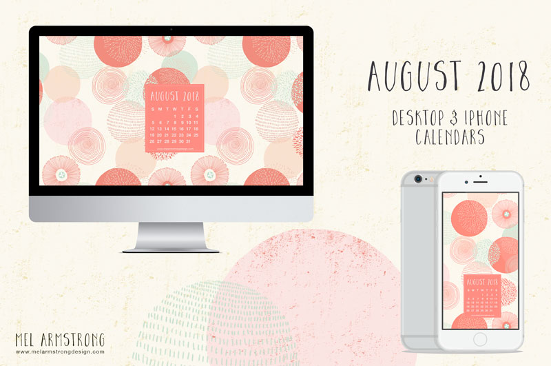 AUGUST 2018 FREE DESKTOP CALENDAR DOWNLOAD