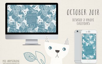 OCTOBER 2018 FREE DESKTOP CALENDAR DOWNLOAD