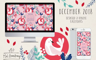 December 2018 Free desktop Calendar download